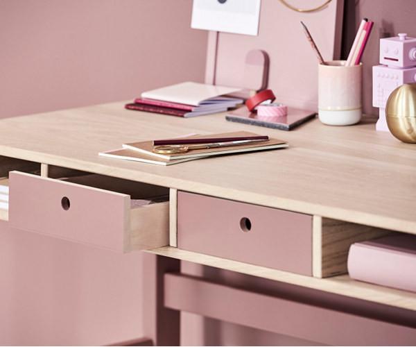 Hyggelig Flexa Popsicle skrivebord - inkl skuffer - Cherry - Børneværelset IS-67