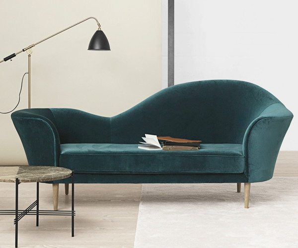 Gubi Grand Piano Sofa - Velluto Cotone Velour