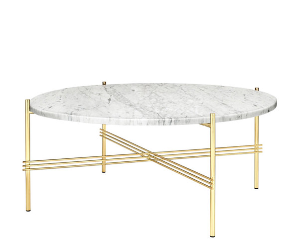 Gubi ts coffee table large hvid marmor for Coffee table 80cm x 80cm