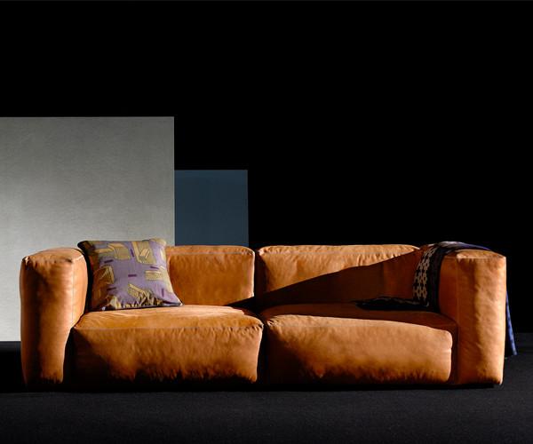 hay mags soft sofa silk l der modul hj rne sofaer. Black Bedroom Furniture Sets. Home Design Ideas