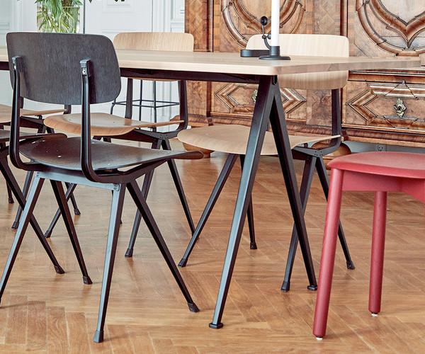 Hay Result Stoel : Hay result chair røget olieret eg sort spisestole stole