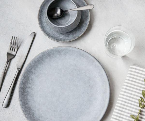 Tidsmæssigt House Doctor Grey Stone Frokosttallerken - Til bordet - Tilbehør YS-94