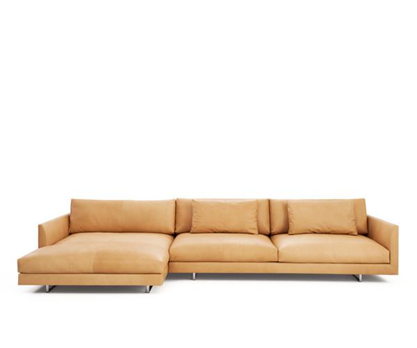 Montis Axel XL Læder Sofa m. Chaiselong - Modul & Hjørne ...