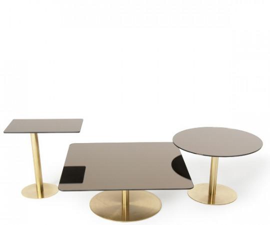 Tom Dixon Flash Table Square - Brass