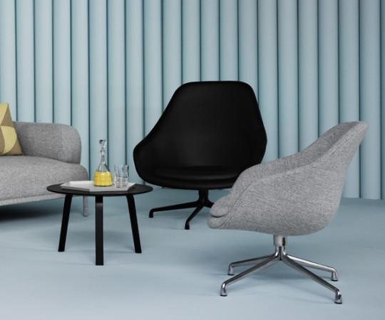 HAY About a Lounge Chair (AAL81) - Sort Sierra Læder