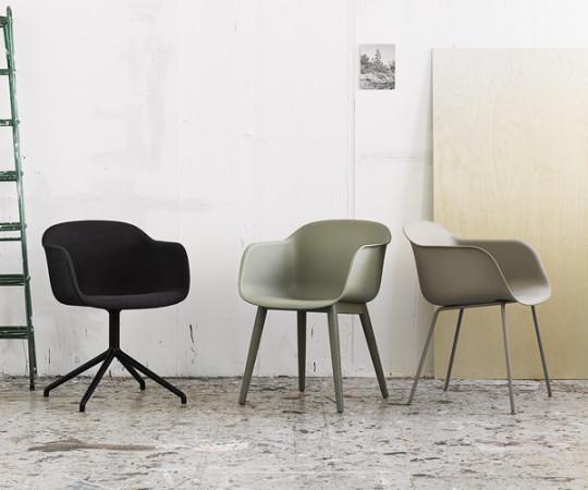 Muuto Fiber Chair Sled - Arm