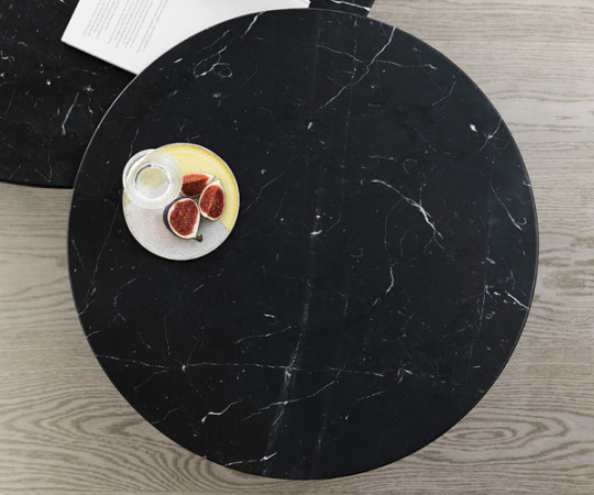 Vipp 423 Sofabord Ø60 - Sort Marmor