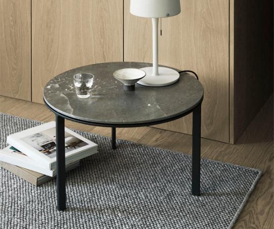 Vipp 423 Sofabord Ø60 - Grå Marmor
