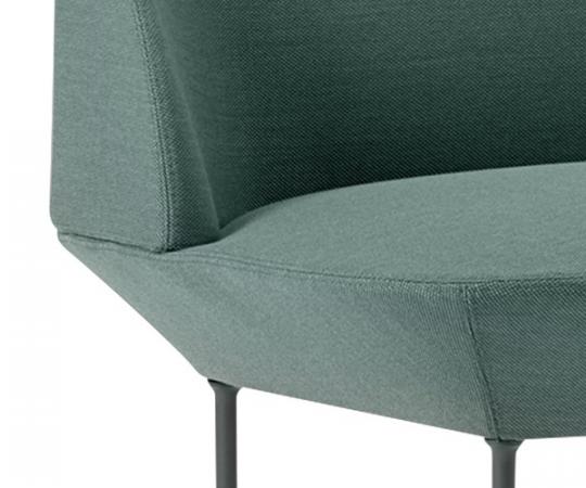 Muuto Oslo Lounge Chair - Steelcut Trio 966