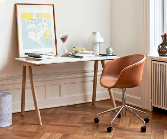 HAY About A Chair AAC53 Kontorstol - Silk Læder