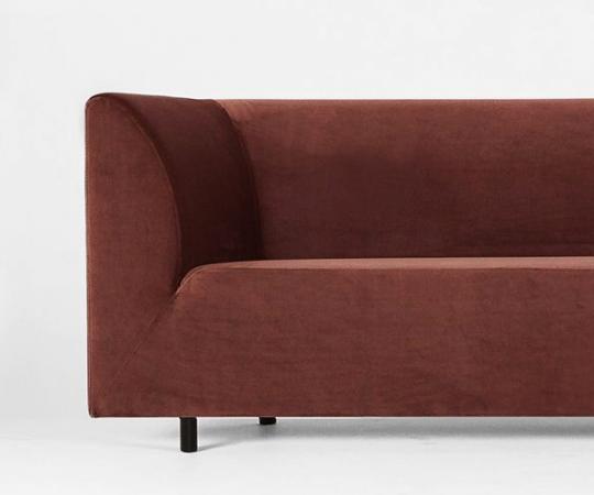 Ygg&Lyng Aften Sofa 90 - V.128 - Brick 3701