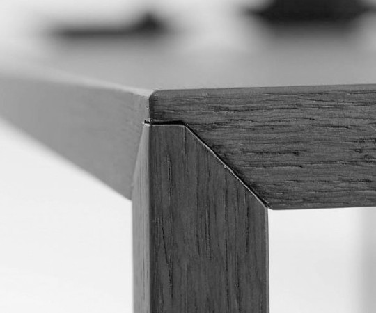 Arco Slim Spisebord - Sort Eg Finer - 240x90cm.