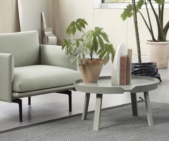 Muuto Around Coffee Table - Stor - Dusty Green