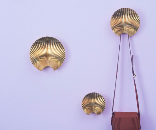 AYTM Concha Hook & Wall Decoration - X-Small - Gold