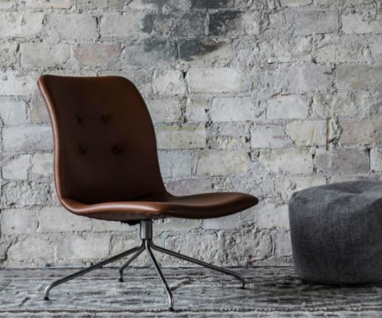 Bent Hansen Primum Lounge Stol - Zenso 2 Læder - Sort Stel
