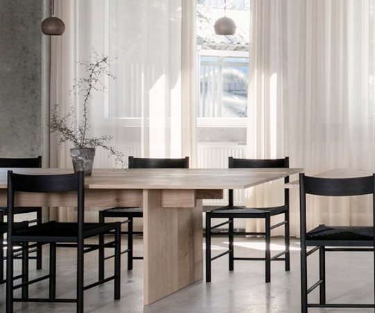 Brdr. Krüger F Chair - Sortbejdset Træ