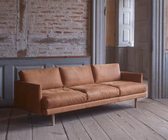 Bruunmunch Emo Sofa - 3.P - Dunes Læder
