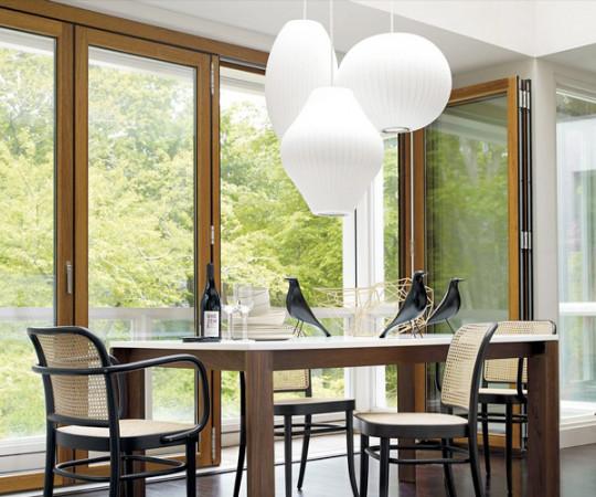 Herman Miller Pear Crisscross Bubble Lampe - Medium