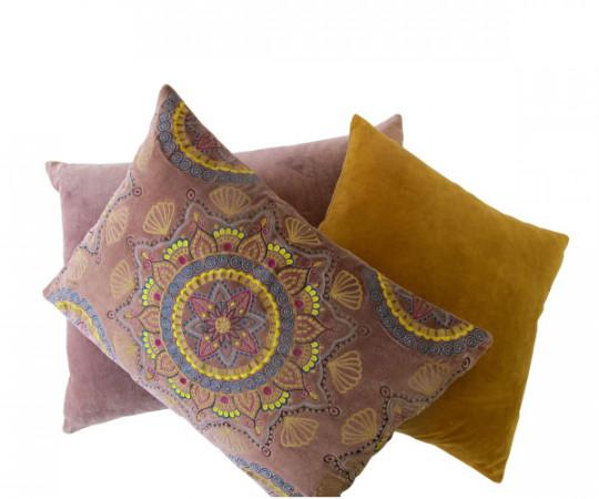 By Living Cph Mustard Velvet pude 50x50cm