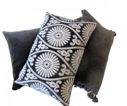 By Living Cph Grey Velvet pude 50x50cm