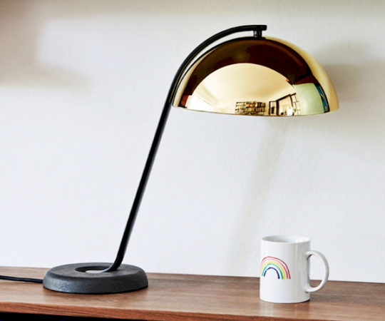 HAY Cloche Bordlampe - Sort/Messing