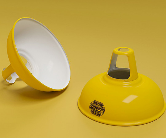 Coolicon Lampe - Original 1933 - Deep Yellow - Small