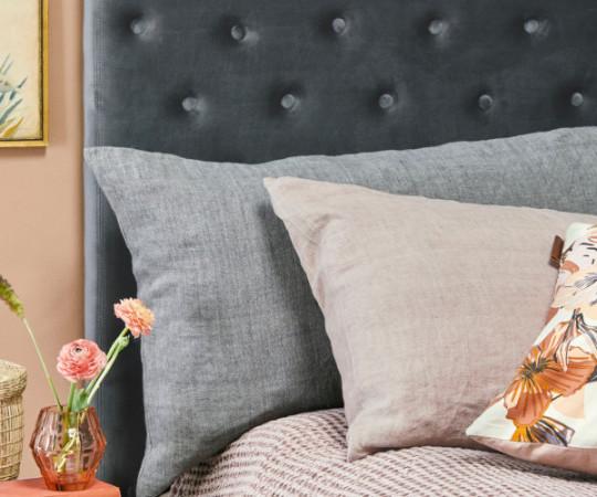 Cozy Living Linen gavlpude - 90 - charcoal