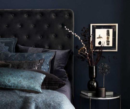 Cozy Living sengegavl - 180 - cole antracit