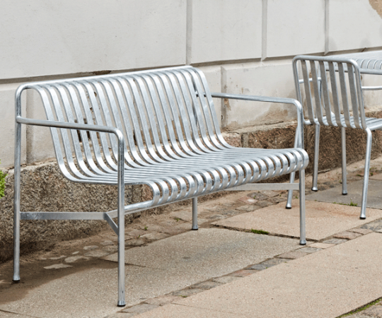 HAY Palissade Dining Bench - Galvaniseret