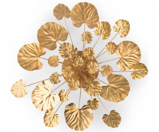 Eden Outcast Wall Flower - brass - large