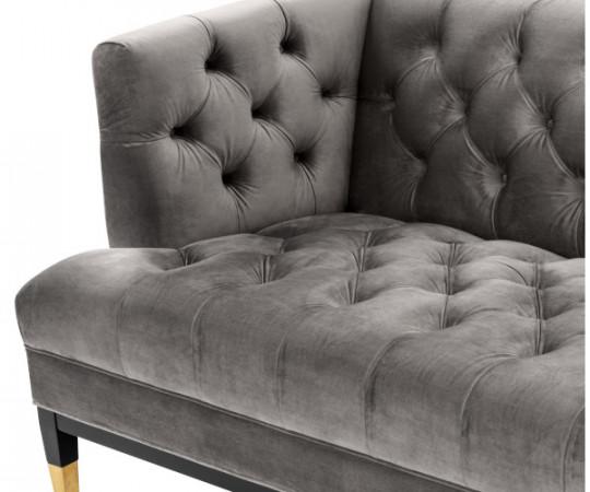 Eichholtz Castelle Sofa - Grey Velvet