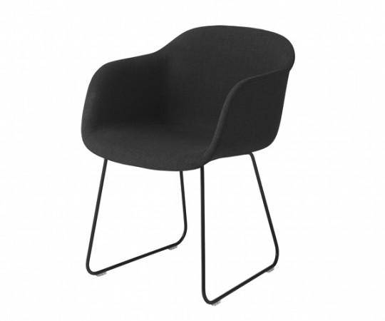 Muuto Fiber Chair Sled - Arm - Stof
