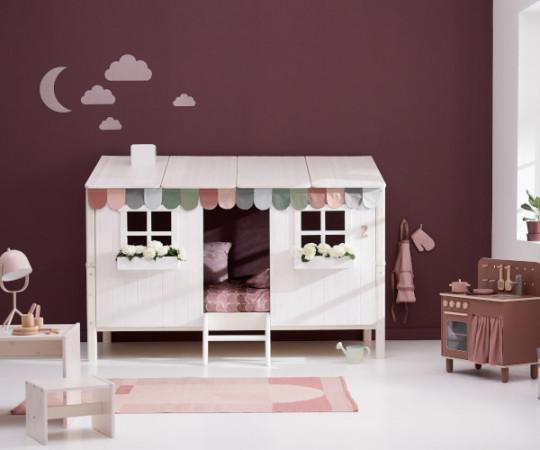 Flexa Classic House seng  - hvid/natur