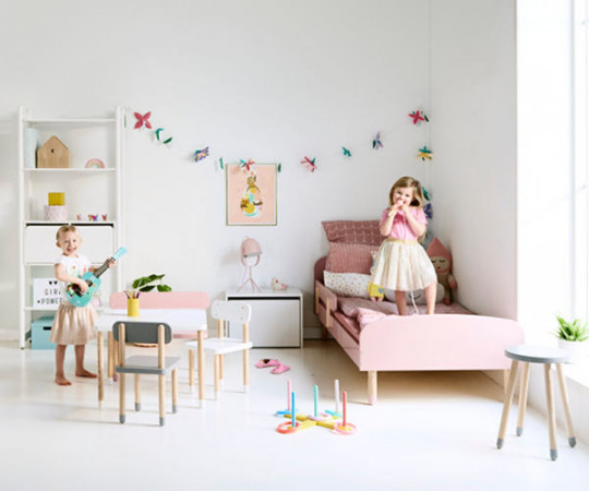 Flexa Play opbevaringsbænk - rosa
