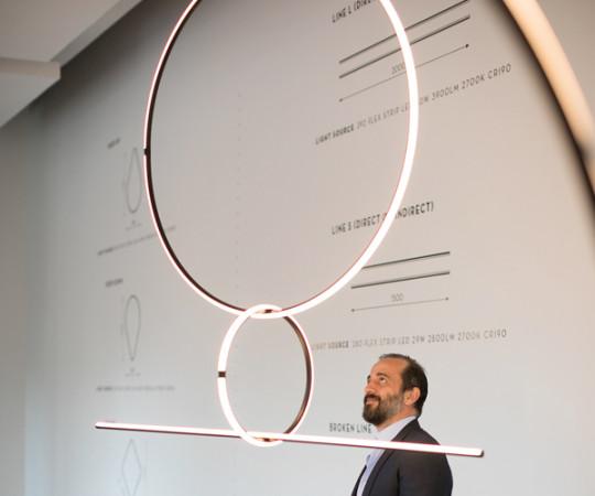 Flos Arrangements Lampe - Line+Round M+Round L