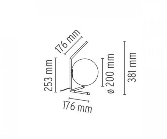 Flos IC Light T1 - Lav Bordlampe - Messing