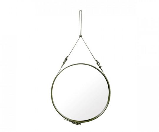 Gubi Adnet Circulaire Mirror Olive Green - Ø70cm. - Large