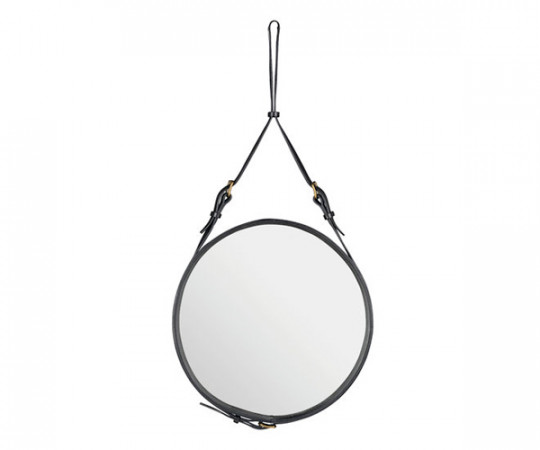 Gubi Adnet Circulaire Mirror Black - Ø45cm. - Small