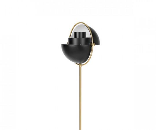 Gubi Multi-Lite - Standerlampe - Sort/Messing