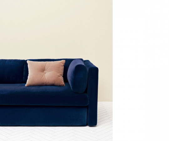 HAY Hackney 3 seater sofa - Navy Lola Velour