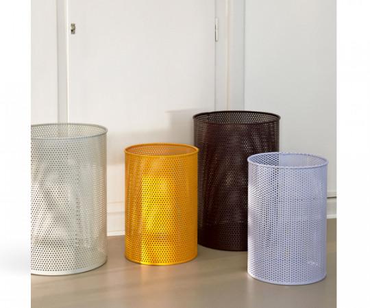 HAY Perforated Bin - Papirkurv - Light Grey - Large