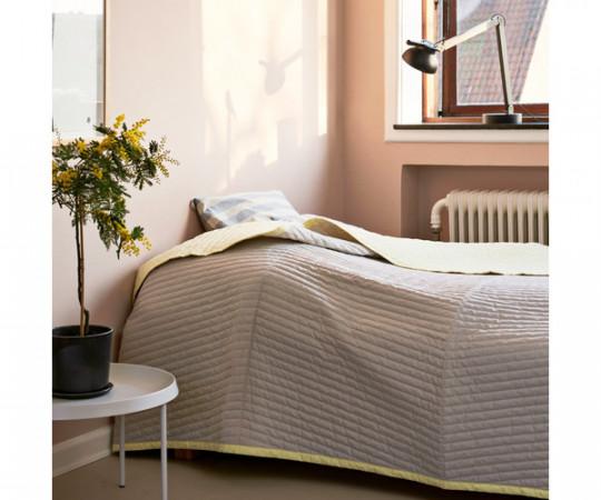 HAY Bias Quilt sengetæppe - Lemon Sorbet - Lille