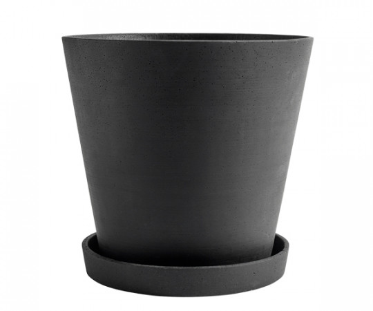 HAY Flowerpot with Saucer - XXXL - Black