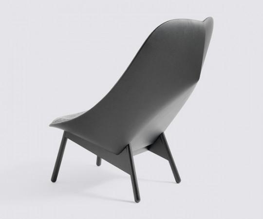 HAY Uchiwa Lounge Chair Hallingdal Uld/Sierra Læder