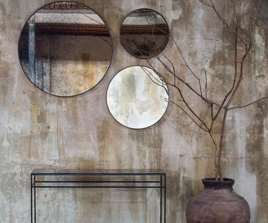 Notre Monde Heavy Aged Bronzed spejl - S