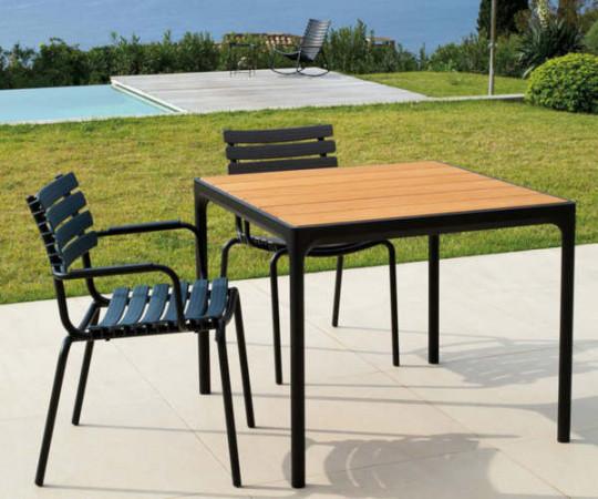 HOUE Four spisebord - 90x90 - sort - bambus