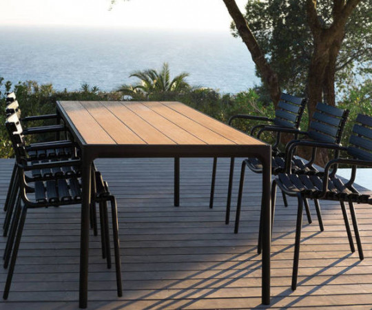 HOUE Four spisebord - 160x90 - sort - bambus