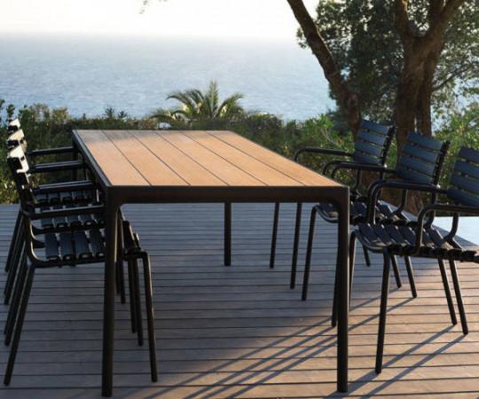 HOUE Four spisebord - 210x90 - sort - bambus