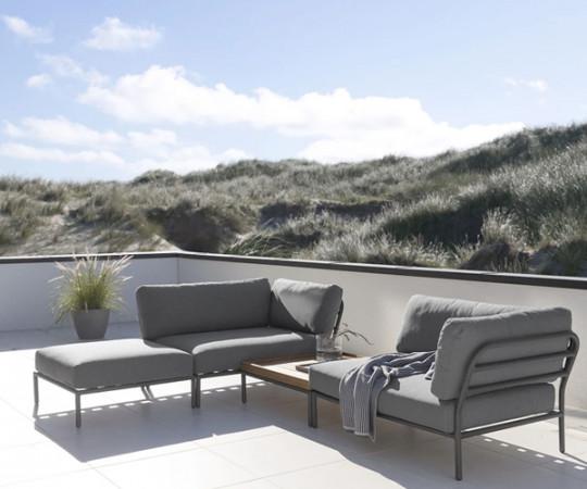 HOUE Level lounge - hjørnemodul - venstre vendt - graumel chalk