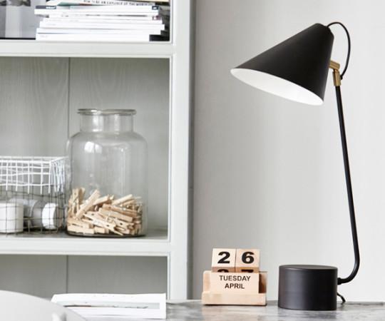 House Doctor Club Bordlampe - Sort